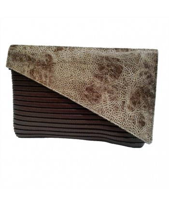Bag clutch, Mykonos Brown, sympatex
