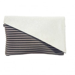 Bag clutch, Mykonos, White, sympatex