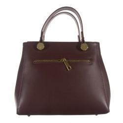 Handtasche, Mafalda Rot, leder