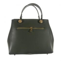 Handbag, Mafalda, Green, leather