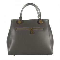 Handbag, Mafalda Gray, leather