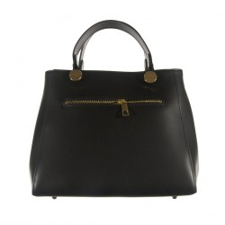 Handbag, Mafalda, Black, leather