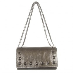 Bag clutch, Fosca Silver, leather