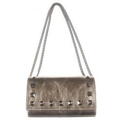 Clutch-tasche, Dunkle Bronze, leder