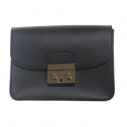 Bag clutch, Pamela Black, leather