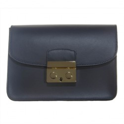 Bag clutch, Pamela Blue, leather