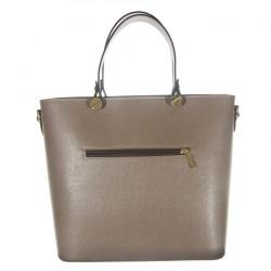 Handtasche, Veronica Beige, leder