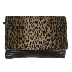 Borsa clutch, Zara Leopardata, in Sympatex