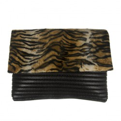 Borsa clutch, Zara Tigrata, in Sympatex