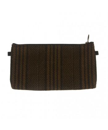 Bag clutch, Concetta Brown Plaid, Sympatex