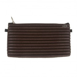 Borsa clutch, Concetta Marrone Scozzese, in Sympatex