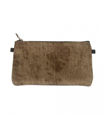 Borsa clutch, Concetta Marrone Gaucho, in Sympatex