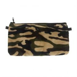 Borsa clutch, Concetta Nero Camouflage, in Sympatex