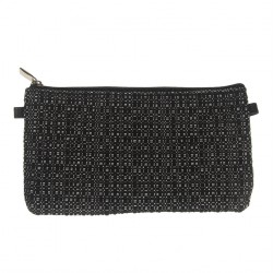 Borsa clutch, Concetta Nero Optical, in Sympatex