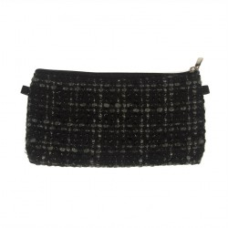 Borsa clutch, Concetta Nero Boucle, in Sympatex