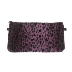 Bolsa de embrague, Concetta Negro, Leopardo Púrpura, Sympatex