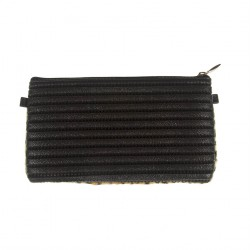 Borsa clutch, Concetta Nero Leopardata, in Sympatex