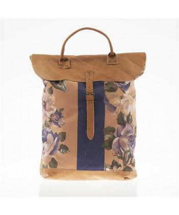 Saco mochila, Brunhilda Barro, coiro e tecido, feita en Italia