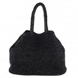 Bolso de hombro Negro Popular, de algodón