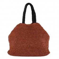 Bolso de hombro, Leonarda Rojo, algodón