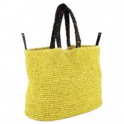 Bolsa de hombro Popular Amarillo, algodón