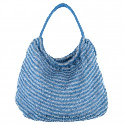 Shoulder bag, Carmen Blue, fabric