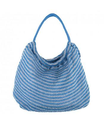 Bolso de hombro, Carmen Azul, tela