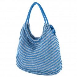 Bolsa de ombreiro, Carmen Azul, tecido