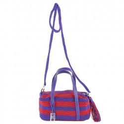 Bolsa de ombreiro, Wanda Violeta, en algodón