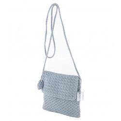 Bolso de hombro, Teresa Gris, de algodón