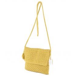 Bolso de hombro, Teresa, Amarillo, algodón
