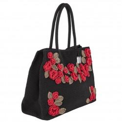 Bolsa de ombreiro, Tullia, Negro, algodón