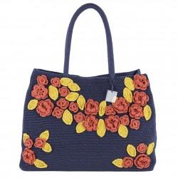 Bolsa de ombreiro, Tullia, Azul, algodón