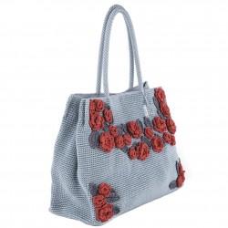 Bolsa de ombreiro, Tullia, Gris, algodón