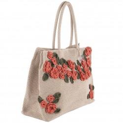 Bolsa de ombreiro, Tullia, Beis, algodón