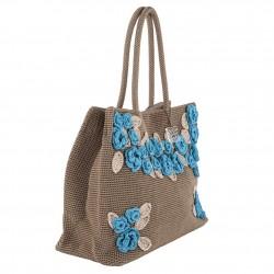 Bolsa de ombreiro, Tullia Marrón, algodón