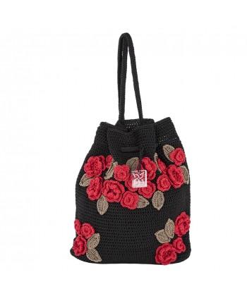 Bolsa de ombreiro, Tiziana Negro, algodón