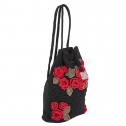 Shoulder bag, Tiziana Black, cotton