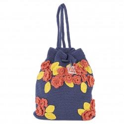 Bolsa de ombreiro, Tiziana Azul, algodón