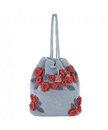 Bolsa de ombreiro, Tiziana Gris, algodón