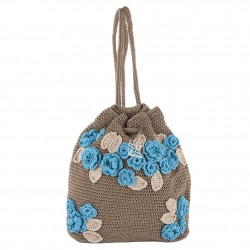 Shoulder bag, Tiziana, Brown, cotton