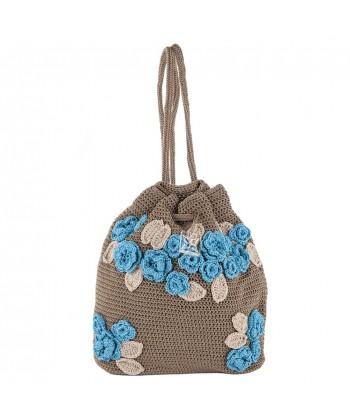 Shoulder bag, Tiziana, Brown, cotton