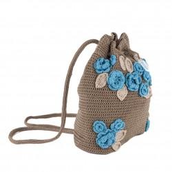 Bolsa de ombreiro, Tiziana, Marrón, algodón