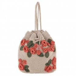 Shoulder bag, Tiziana Beige, cotton