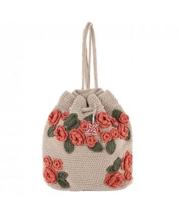 Shoulder bag, Tiziana Beige, cotton