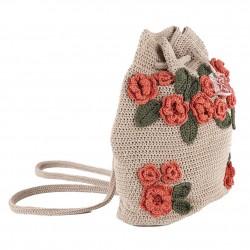 Bolso de hombro, Tiziana Beige, de algodón