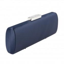 Borsa Clutch, Violante Blu, in tessuto