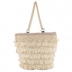 Handtasche, Cosima Beige, bast
