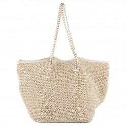 Handtasche, Clelia Beige, bast