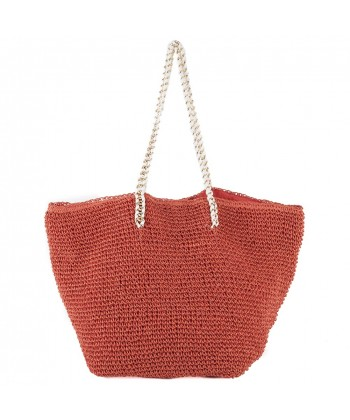 Hand bag, Clelia Red, raffia